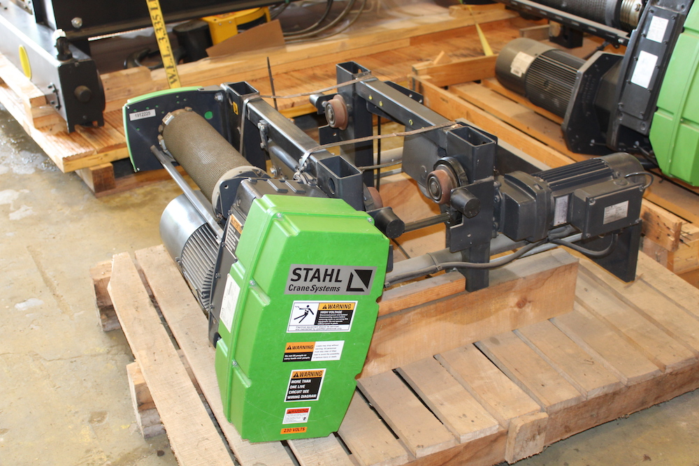 FOR SALE: Stahl Crane Systems 2 Ton Capacity (4,000 lbs.) Electric Wire Rope Hoist