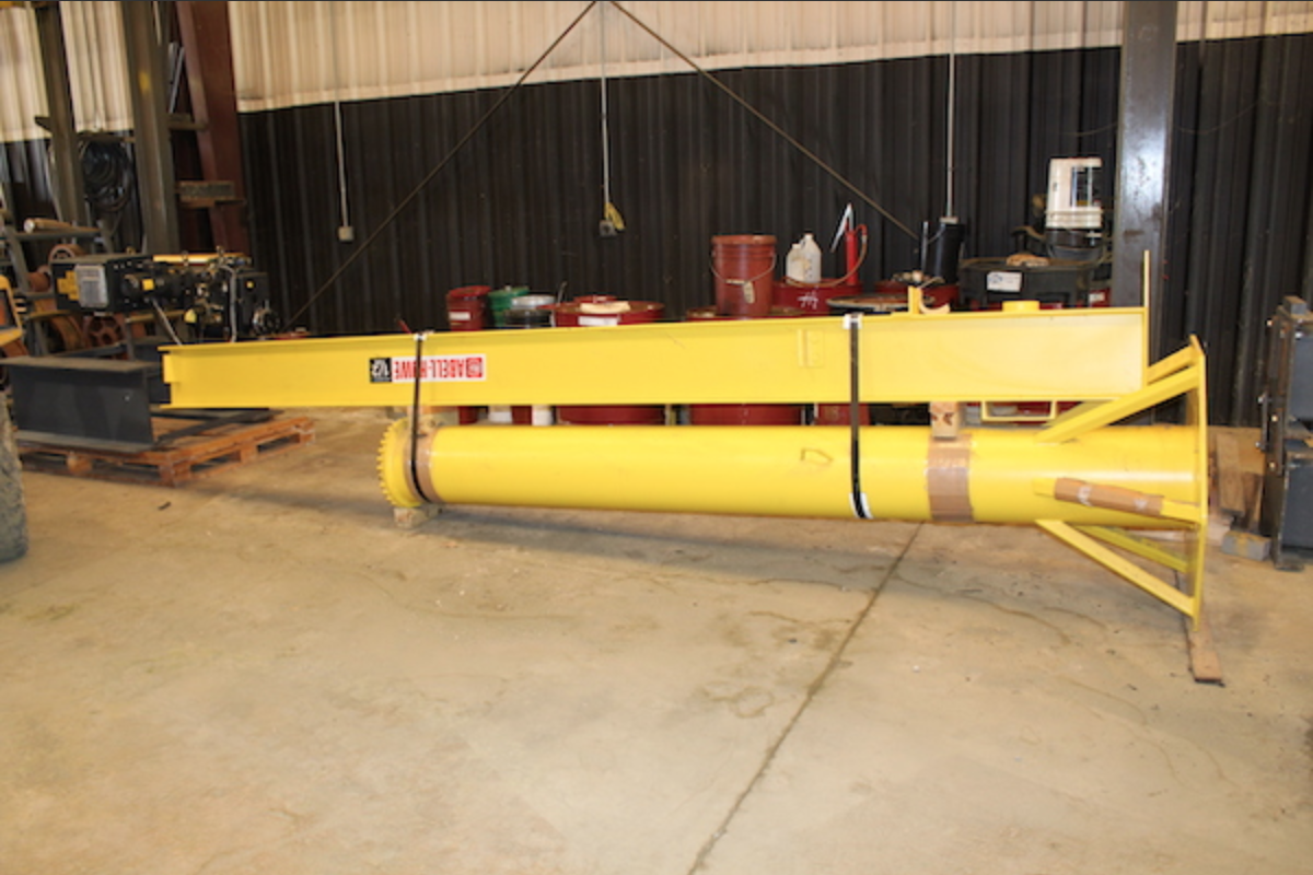 FOR SALE: Abell-Howe 1/2 Ton Capacity (1000 lbs.) Pillar Jib Crane